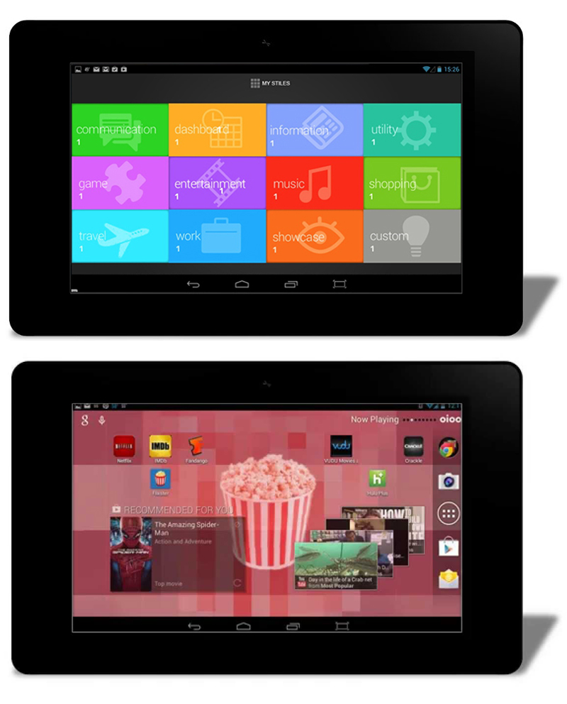 oioo tablet / graphical user interface